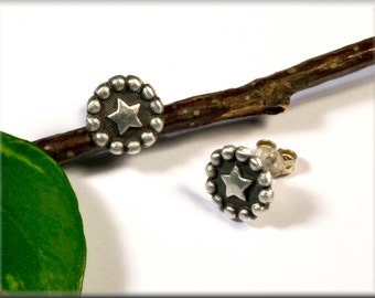 LONDON STARS, 999 fine Silver Star earrings