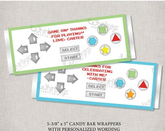 Controller Candy Bar Wrapper Printables - Customized Party Favors