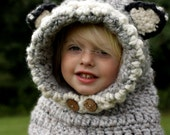 Woodland Hooded Cowl - girls crochet cowl