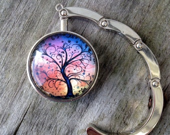 Purse hanger, Purse hook, Purse hanger hook, Tree of life, Folding purse hanger, Tabletop purse hanger, Gifts for women, Gifts for girls