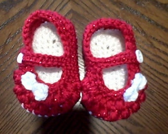 Baby booties - Mary Jane shoes for infants