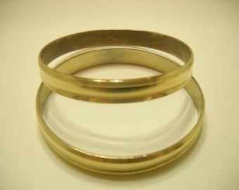 Two (2) Identical Gold Tone Bangles (1545)