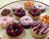 Miniature Needle-felted Donuts