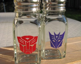Transformers Salt and Pepper Shakers