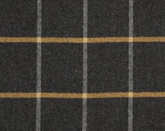 Popular items for gray plaid fabric on Etsy