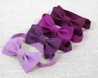Purple bow tie Wedding boys bow tie Ring bearer bow tie Baby boys bow tie Gentleman's bow tie Rustic bow tie Fuchsia Maroon Lilac bow tie