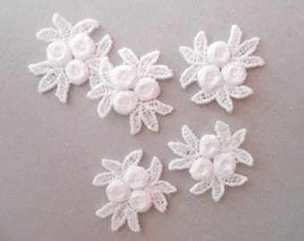 5 Flowers lace for your créations
