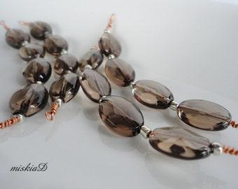 Smoky Quartz, faceted Smoky Quartz, Oval Smoky Quartz, Jewelry Supply, Gemstone Bead,DIY Supply, Craft Supply