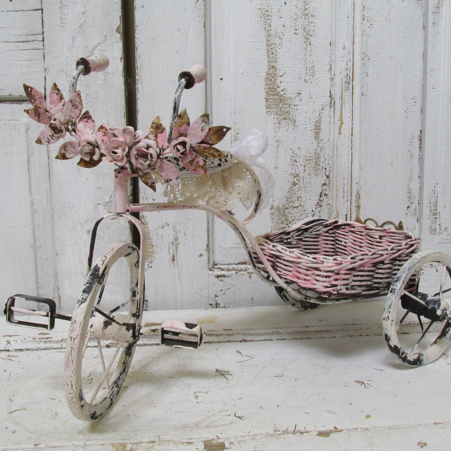 Bicycle Home Decor: Bicycle Home Decor Hand Painted Pink By AnitaSperoDesign