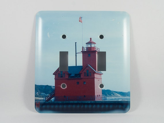 Sale 50 pct off light switch cover holland harbor lighthouse for Lighthouse switch plates