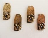 Bronze Hibiscus Charm