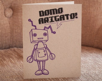 Domo Arigato Letterpress Card - Thank You Card