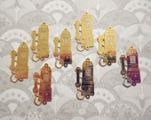 8 Goldplated Telephone Charms
