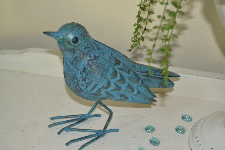 Blue Bird Home Decor Blue Bird Home Decor Aqua Blue Metal