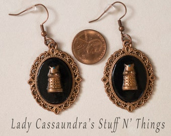 EXTERMINATE Dalek Cameo Earrings