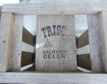 Vintage Wooden Frisco California Celery Crate  B626