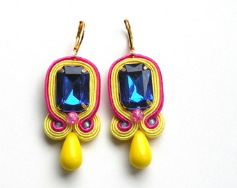 Azure - soutache earrings