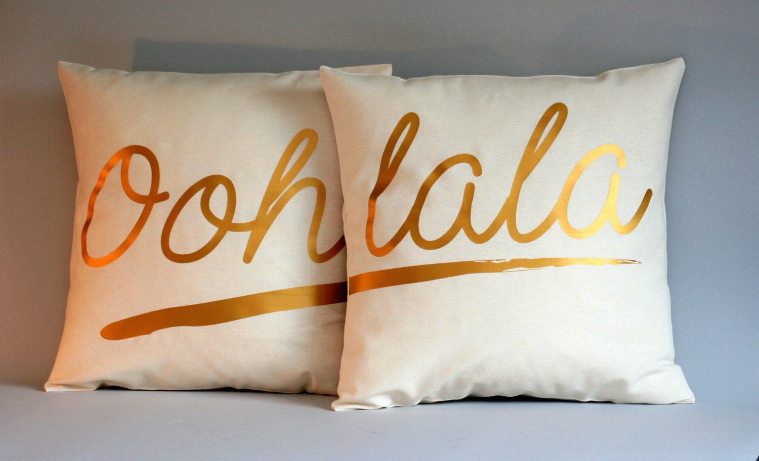 French Wedding Gifts: Ooh Lala French Quote Pillow Cover Wedding Gift Pillow