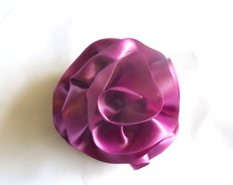 Hair Flower Barrette Plum - Bridal Hair - Wedding - Bridesmaids - Formal Hair - Fascinator