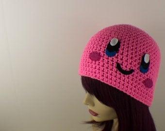 Crochet Kirby Inspired Hat
