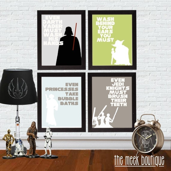 Instant Download Star Wars Bathroom Art Set Of Four
