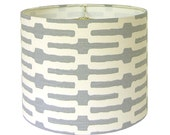 Lamp Shade Lampshade Links by Annie Selke Slate gray grey Made to Order