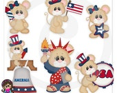 Matt and Miley Love America Clip art  Clipart Graphics  Commercial Use USA 4th Of July