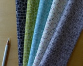 FQ Road 15 One Way Bundle Fat Quarter (5) Pieces - Sweetwater Moda - Modern Quilting Craft Cotton Fabric