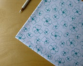 Mormor Little Blomster in Emerald 37120-3 - Lotta Jansdotter for Windham - Half Yard - Modern Quilting Crafting Cotton Fabric