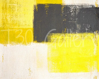 Digital Download - Simply Modern, Grey and Yellow Abstract Artwork