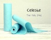 "100 Percent Wool Felt Roll - Wool Felt color CELESTE - 5"" X 36"" Wool Felt - 100% Wool Felt"