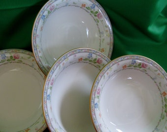 RARE 1970s Noritake Finale Coupe Soup  bowls Set of 4  Very Good