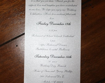 Welcome note and Wedding Timeline  with jacket