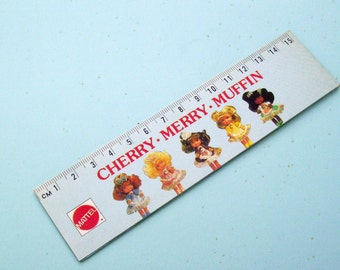 Cherry Merry Muffin Ruler. Barbie Doll Ruler. 80s Mattel Toys. Holographic Anime Ruler. Cow Girl Barbie. Vintage Drawing Media