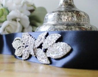 Rhinestone Bridal Gown Sash Belt