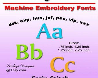 Downloadable Machine Embroidery Alphabet: Amerigo Font.