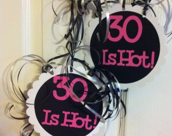 30th Birthday Decorations Danglers Choose Your Own Text and Colors