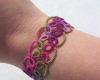 tatted bracelet, lace cuff bracelet, lace bracelet, tatted lace bracelet, cuff bracelet, victorian bracelet, wrist cuff, downton abby