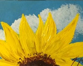 Southern Sunflower - ACEO Original Painting -Collectible Miniature - Last day at this SALE price