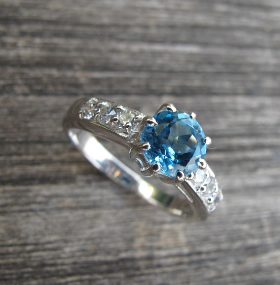 gorgeous swiss blue topaz ring engagement ring promise ring