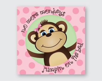 Pink Monkey Wall Art