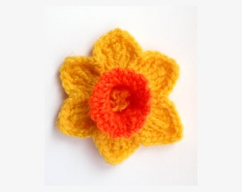 Knitted Daffodil Brooch Pattern : Popular items for crocheted daffodil on Etsy