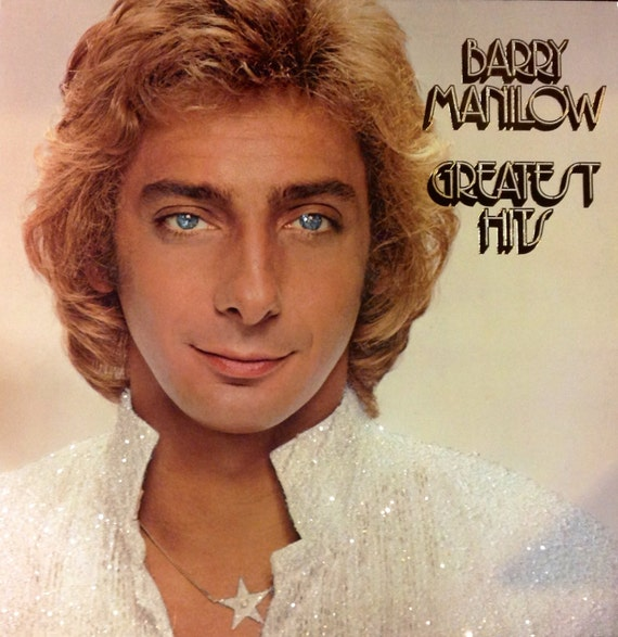 Glittered Barry Manilow Greatest Hits Vinyl Record Album