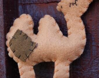 Camel  ornaments- Felt camel Christmas ornaments-Handmade felt Camel ornaments-Zoo animals-Manger animals