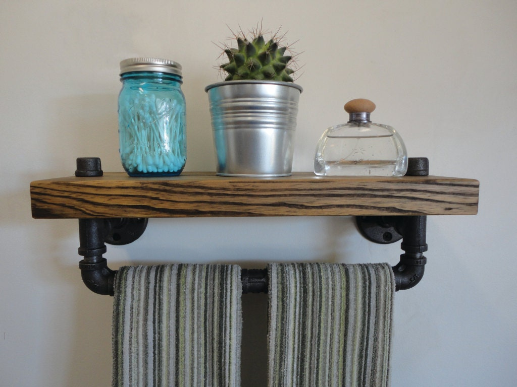 Cool DIY Industrial Pipe Bathroom Shelf Guest Post  Upcycled Treasures