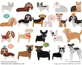 Dogs and Friends clip art part 3 for Personal and Commercial use - INSTANT DOWNLOAD
