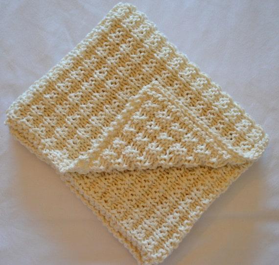 Waffle Knitting Pattern Blanket : Simple Waffle Baby Blanket Pattern Knitting pattern