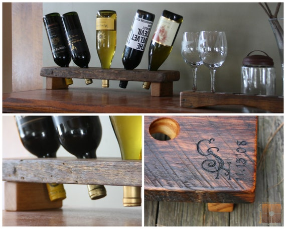 Wedding Gifts Wine: Rustic Wine Rack Unique Wedding Gifts Personalized Wine