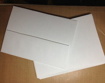 A7 envelopes white smooth finish Lynx Opaque 25 ea square flap premium