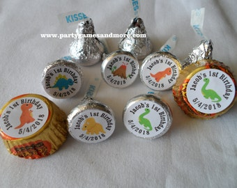 Unique Personalized Hershey's Kiss Labels Dinosaur Baby Shower Birthday Party Favor Gift or Any Occassion